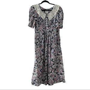 LAURA ASHLEY 80's Vintage Dress Size 8